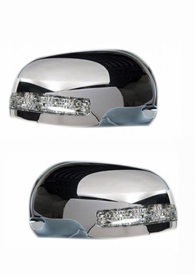 SIDE MIRROR CHROME COVER WITH INDICATOR FOR MARUTI ZEN (SET OF 2 PCS)