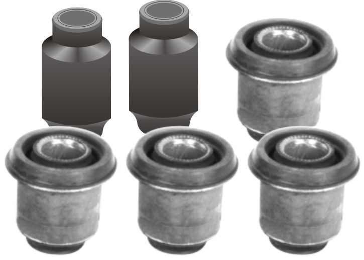 FRONT SUSPENSION BUSHING KIT FOR FORD FIESTA (SET OF 6)