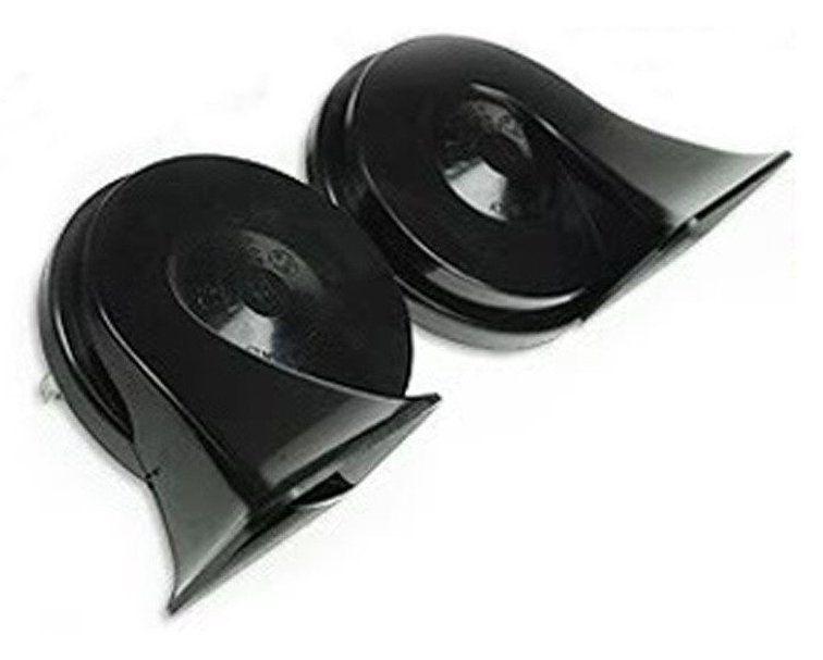 MINDA 12V TP9 TRUMPET HORN SET- WINDTONE BLACK FOR FORD FIESTA