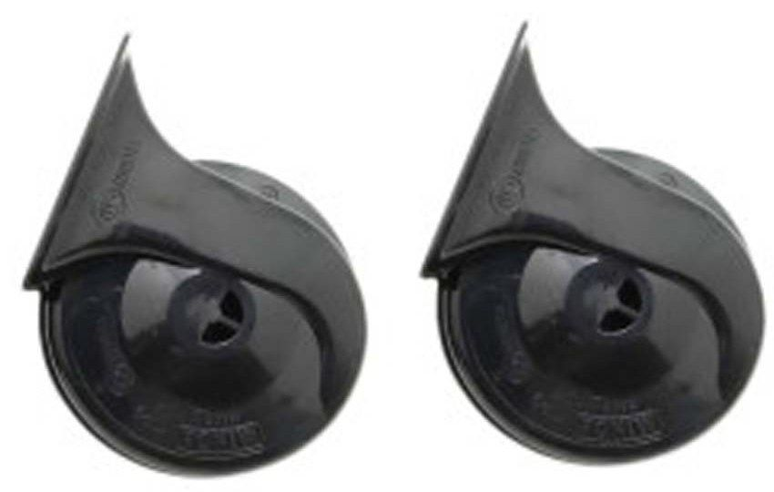 MINDA 12V TP9 TRUMPET HORN SET- WINDTONE BLACK FOR MAHINDRA LOGAN
