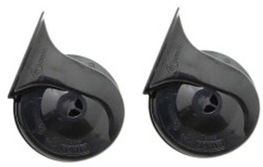 MINDA 12V TP9 TRUMPET HORN SET- WINDTONE BLACK FOR MAHINDRA BOLERO