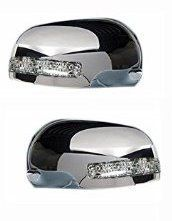 SIDE MIRROR CHROME COVER WITH INDICATOR FOR MARUTI CAR (SET OF 2 PCS)
