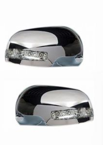 SIDE MIRROR CHROME COVER WITH INDICATOR FOR MARUTI WAGON R TYPE III & IV (SET OF 2 PCS)