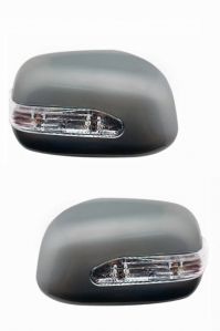 SIDE MIRROR CHROME COVER WITH INDICATOR FOR MARUTI ZEN ESTILO LX (SET OF 2 PCS)
