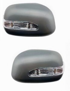SIDE MIRROR CHROME COVER WITH INDICATOR FOR MAHINDRA XYLO (SET OF 2 PCS)