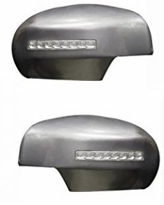 SIDE MIRROR CHROME COVER WITH INDICATOR FOR MARUTI VAN TYPE III (SET OF 2 PCS)