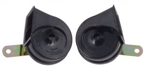 MINDA 12V TP8 TRUMPET HORN SET - HARMONY BLACK FOR MITSUBISHI CEDIA
