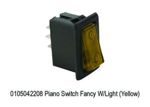 MINDA PIANO SWITCH YELLOW COLOUR(UNIVERSAL)
