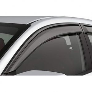 Door Visor Side Window Deflector Renault Duster New Model (Black-Smoke Grey)(Set Of 6Pcs)