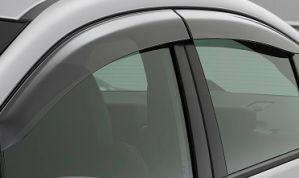 GLOBE-FORCE CRUISER/JUDO/TOOFAN Rain / Wind / Door Visor Side Window Deflector(Black-Smoke Grey)(Set Of 8 Pieces)
