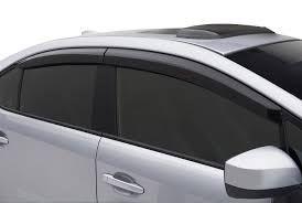 GLOBE-TATA VISTA Rain / Wind / Door Visor Side Window Deflector(Black-Smoke Grey)(Set Of 4 Pieces)