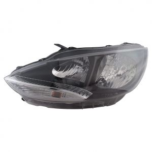 Head Light Lamp Assembly For Tata Bolt Mfr With Black Bezel Left