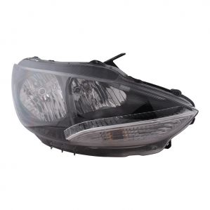 Head Light Lamp Assembly For Tata Bolt Mfr With Black Bezel Right