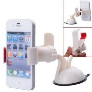 Car Mobile Holder with 360 Degree Rotating (White)