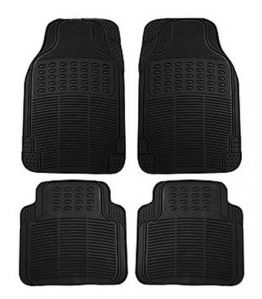 Packy Poda Universal Car Floor Mats BLACK (Set Of 4 Pcs)