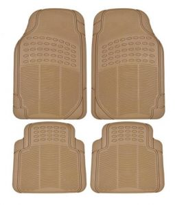Packy Poda Universal Car Floor Mats Beige (Set Of 4 Pcs)