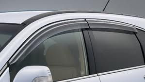 GLOBE - MARUTI SUZUKI NEW WAGON R-LATEST MODEL 2010 Rain / Wind / Door Visor Side Window Deflector(Silver)(Set Of 4 Pieces)