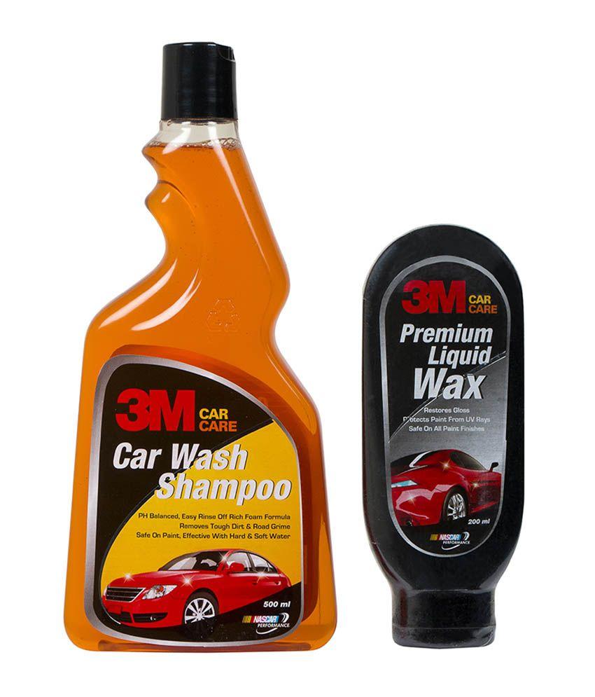 3M Car Care Kit Liquid Wax(200ml)+Shampoo(500ml)