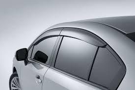 GLOBE - MARUTI SUZUKI SWIFT DZIRE-OLD MODEL Rain / Wind / Door Visor Side Window Deflector(Silver)(Set Of 4 Pieces)