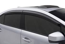 GLOBE-TATA VISTA Rain / Wind / Door Visor Side Window Deflector(Black-Smoke Grey)(Set Of 4 Pieces)