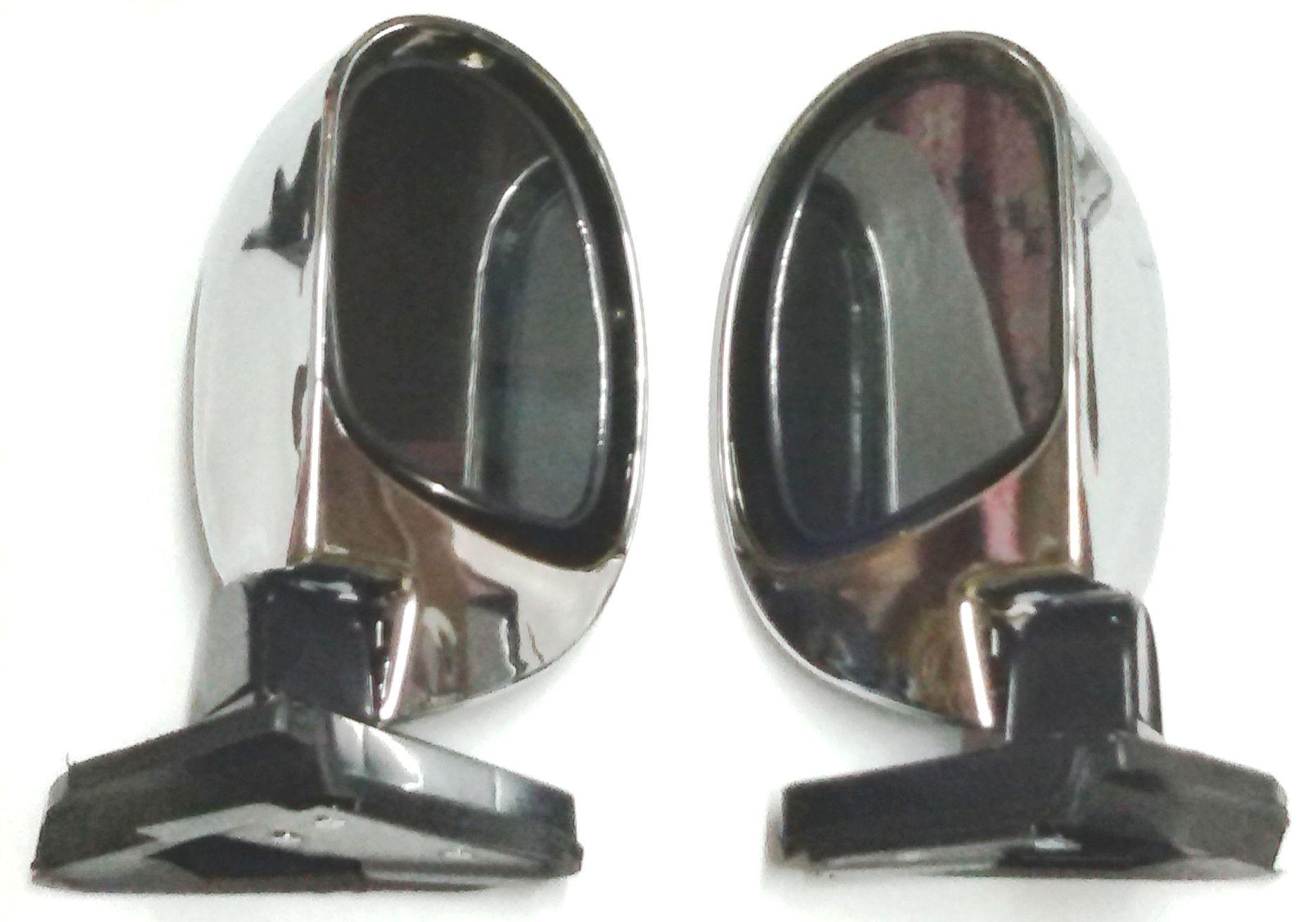UNIVERSAL SIDE DOOR MIRROR CHROME(SET OF 2 PCS)
