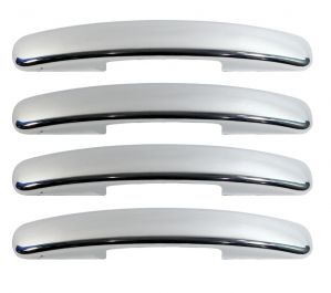 CAR CHROME OUTER HANDLE/CATCH COVERS FOR MARUTI RITZ (SET OF 4PCS)[SINGLE KEY HOLE]