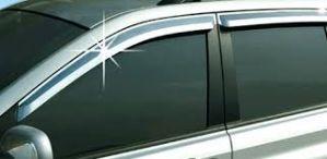 GLOBE-TATA NANO Rain / Wind / Door Visor Side Window Deflector(Black-Smoke Grey)(Set Of 4 Pieces)