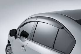 GLOBE-TATA INDICA Rain / Wind / Door Visor Side Window Deflector(Black-Smoke Grey)(Set Of 4 Pieces)