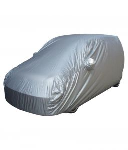SILVER CAR BODY COVER FOR DATSUN GO
