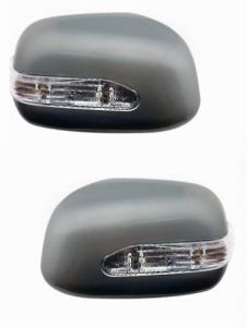 SIDE MIRROR CHROME COVER WITH INDICATOR FOR MARUTI SWIFT TYPE I (SET OF 2 PCS)