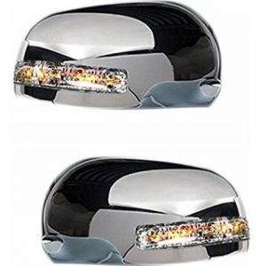 SIDE MIRROR CHROME COVER WITH INDICATOR FOR MARUTI EECO (SET OF 2 PCS)